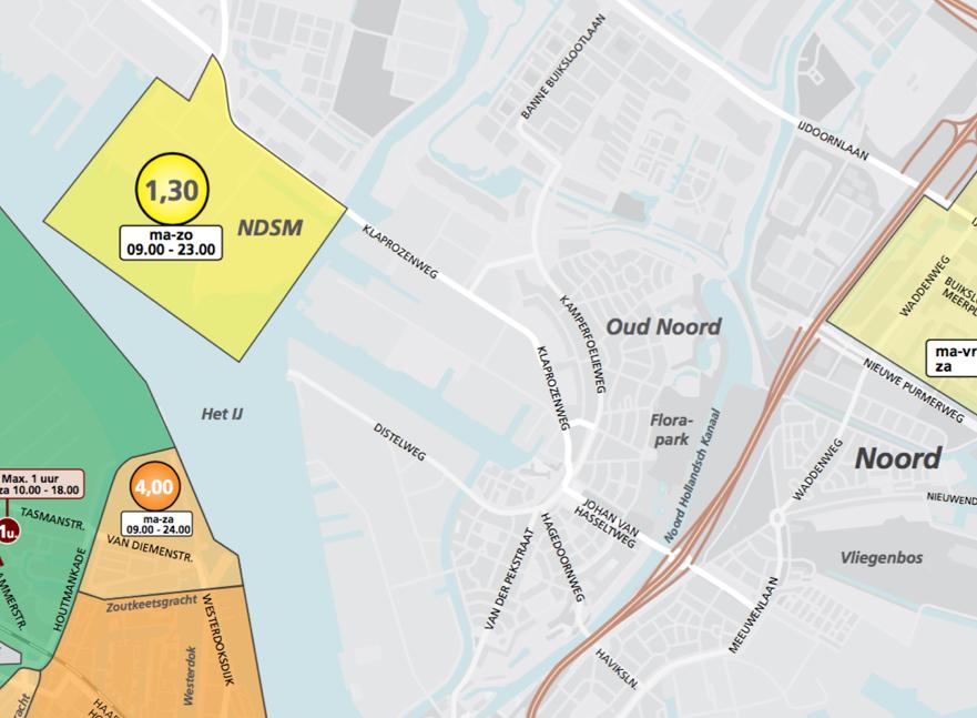 parkeerplaats olympisch stadion amsterdam